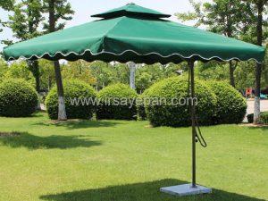سایبان چتری مربعی پایه وسط