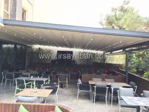اجرا سقف متحرک در رستوران خیابان اصف