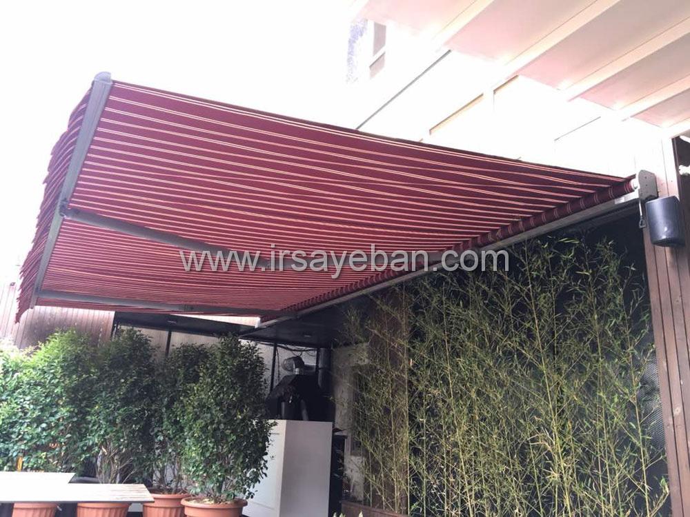 نصب سایبان باکس در رستوران زعفرانیه