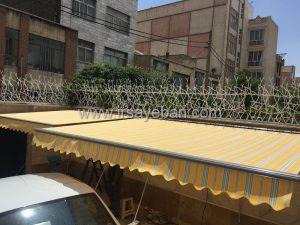 نصب سایبان باکس پارکینگ خودرو