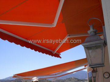 سایبان برقی ویلا ساحلی